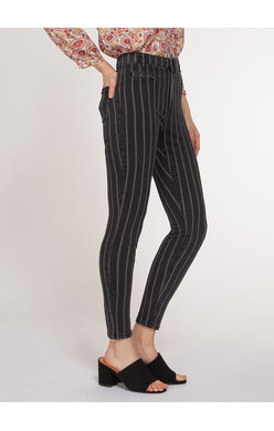 High rise Skinny Jeans with Pinstripe - Kick It Boutique