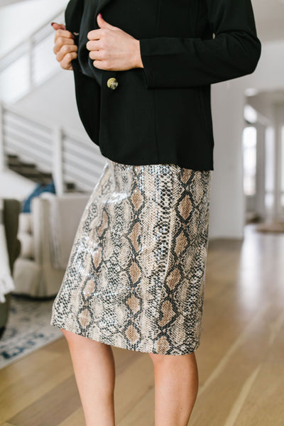 Happy In My Skin Sequin Pencil Skirt - Kick It Boutique