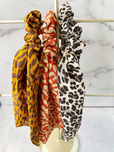 Modern Luxe Leopard Hair Scarves. 3 in 1 Accessory