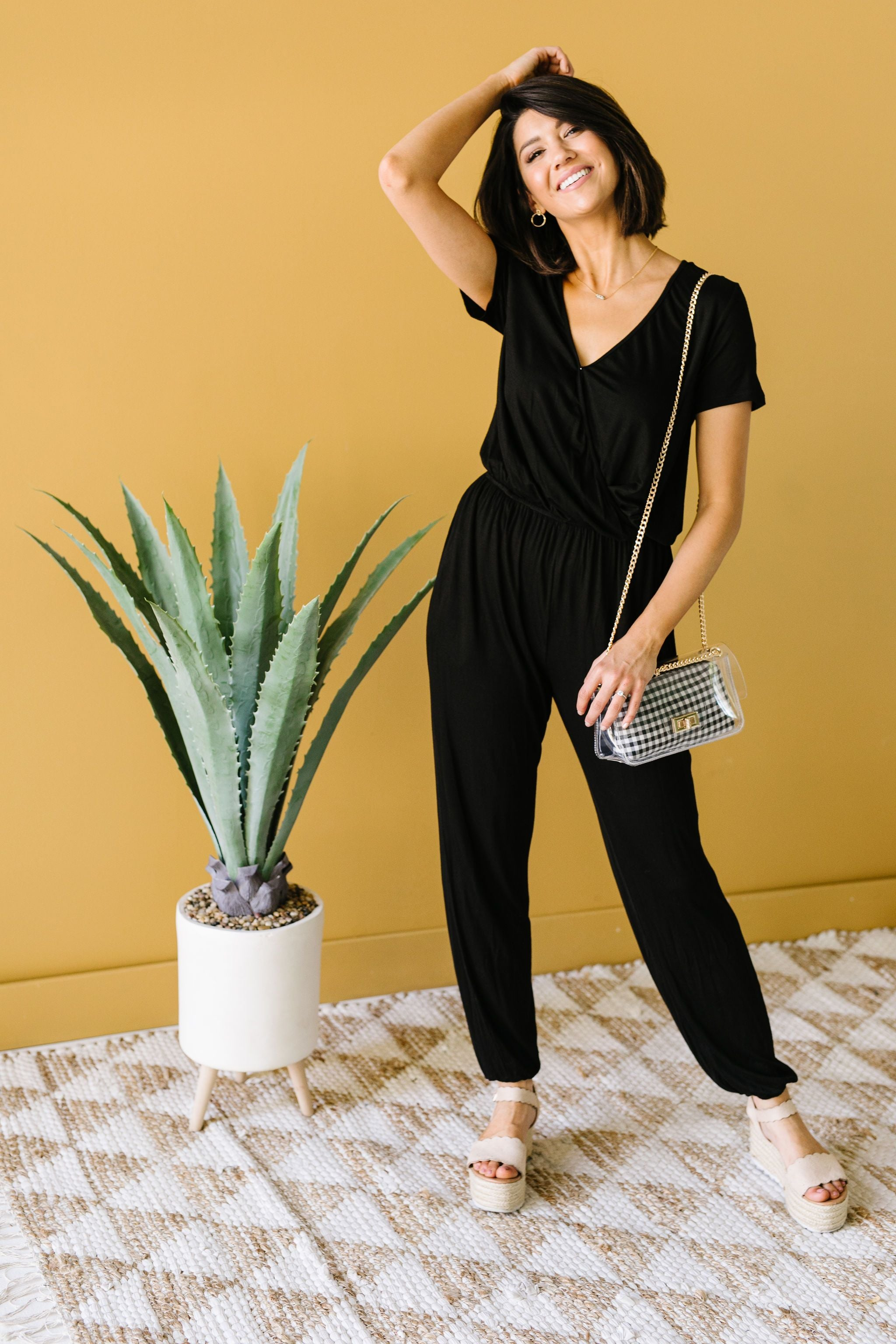 Jumping Jacks Jumpsuit In Black