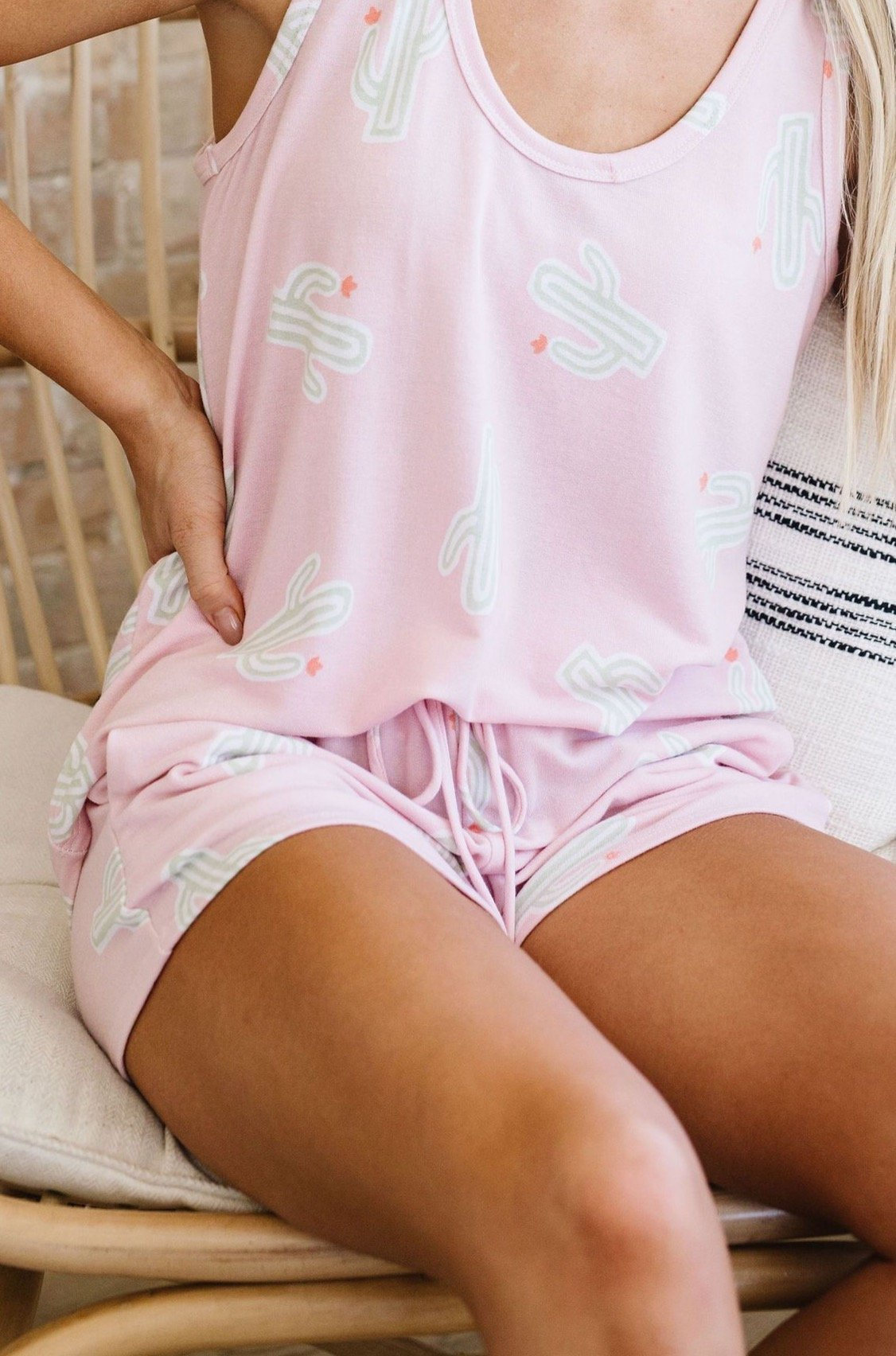 Prickly But Soft Shorts In Pink