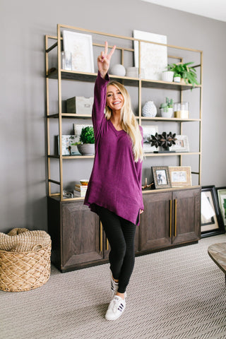Amethyst Tunic Top - Kick It Boutique