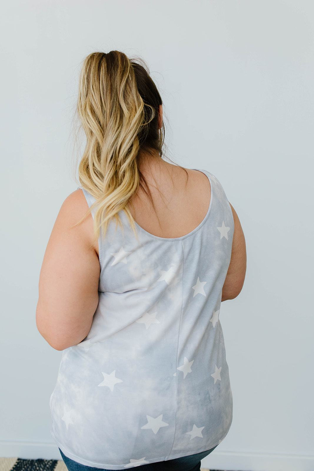 Cloudy With A Chance Of Stars Tank In Blue