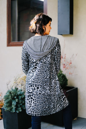 Dark Spot Hooded Cardigan