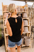 Elaine Elegant Tank In Black