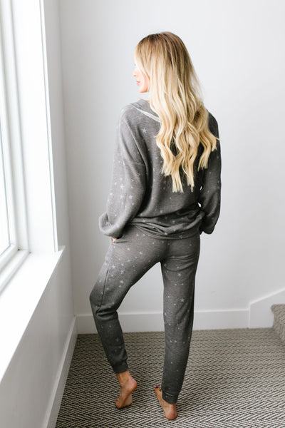 Galaxy Charcoal Top - Kick It Boutique