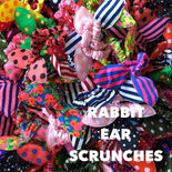 Rabbit Ear Hair Scrunches (sets of 12)