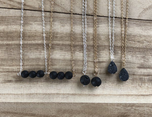 Essential Oil Lava Stone Necklaces