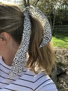 Hair Scarf Scrunch Pony Holder: Multiple Colors and Patterns