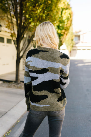 Let's Go Camo Sweater