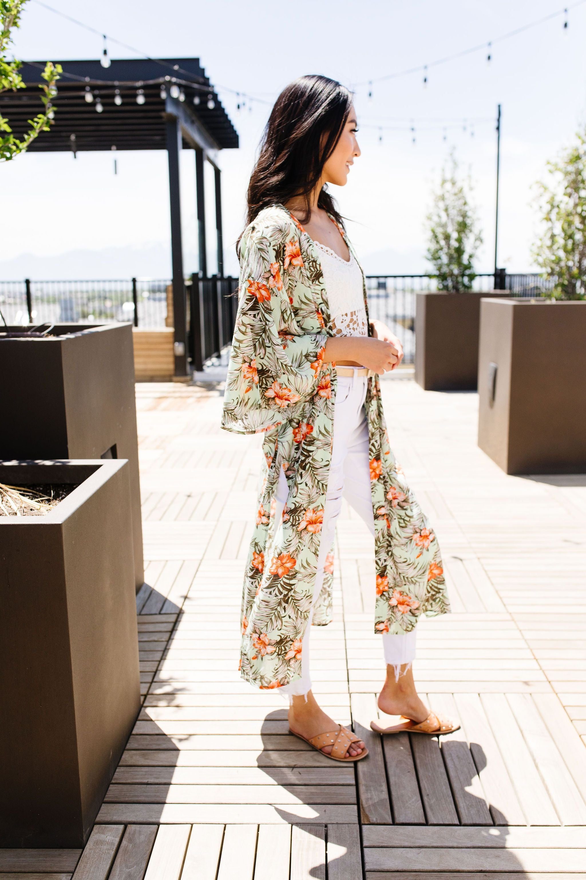 Long Hot Summer Tropical Kimono