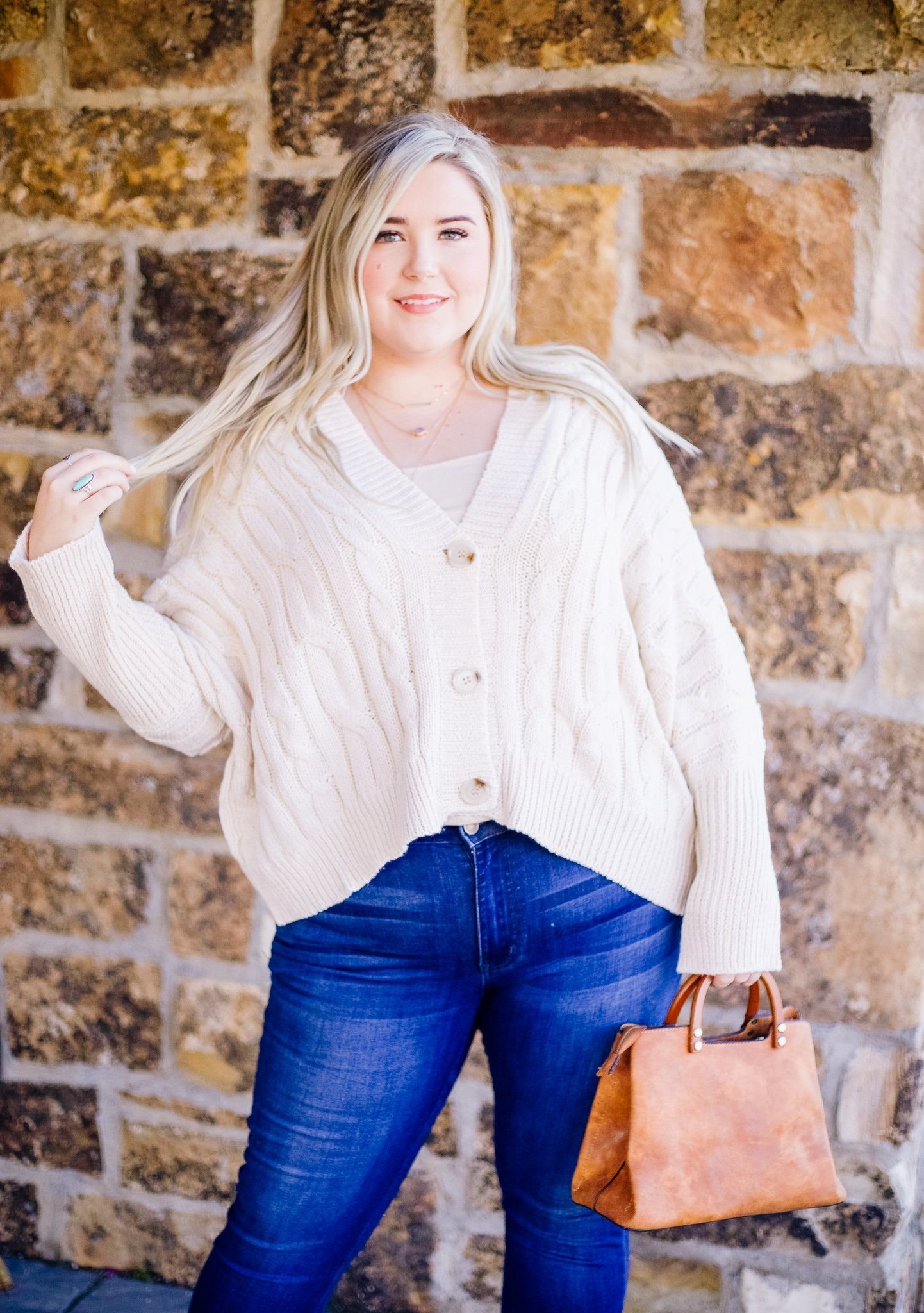 Ms. Rogers Button-Down Cardi