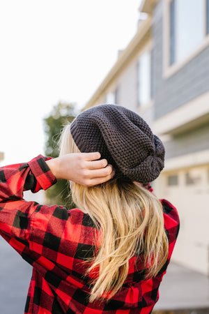No Slouch Charcoal Beanie