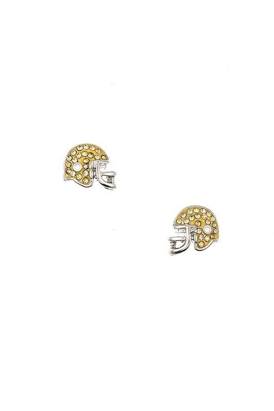 Rhinestone Helmet Earrings