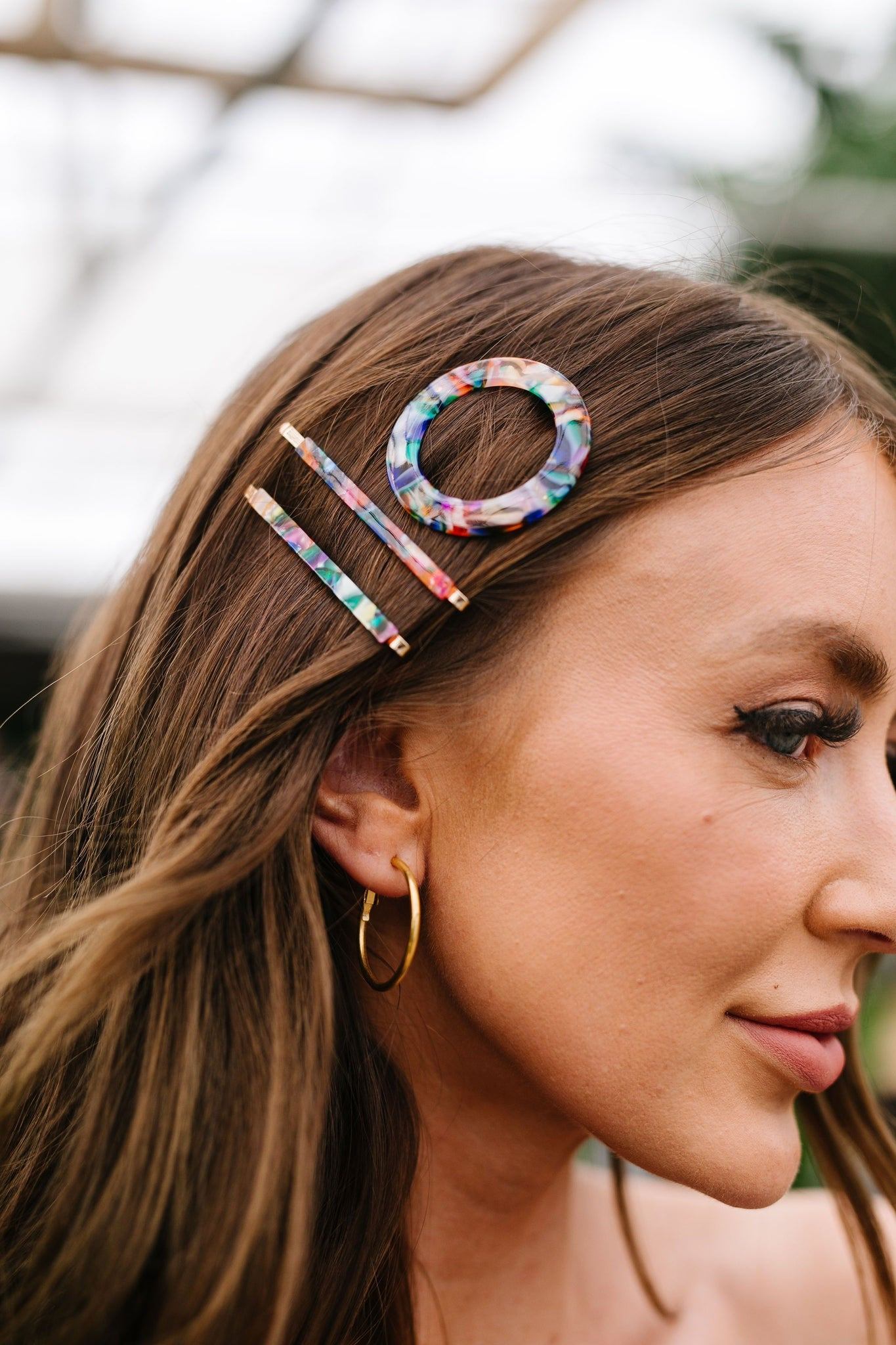 Stained Glass Straight Hair Pins - Kick It Boutique