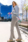 Striped Knit Bell Bottoms