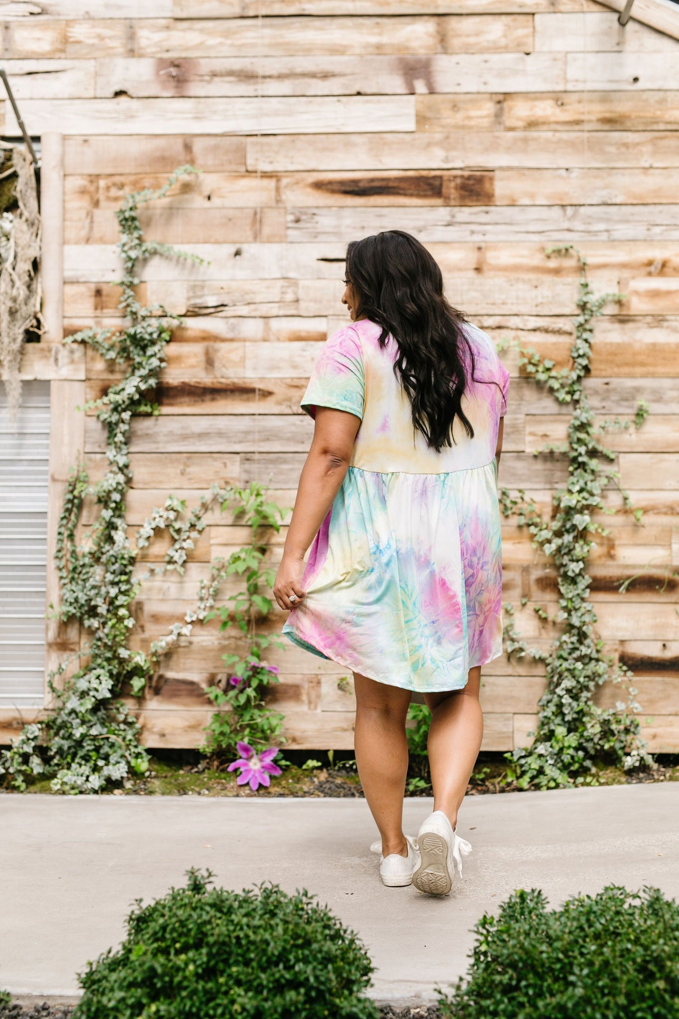Tie Dye Delight Babydoll Dress