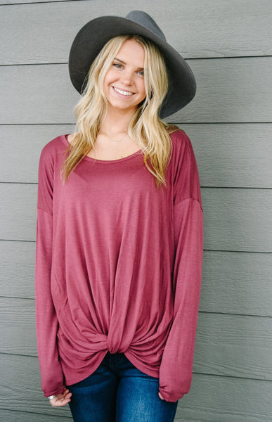 Twist And Shout Jersey Top - Kick It Boutique