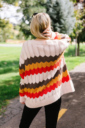 Zig Zag Through Autumn Sweater