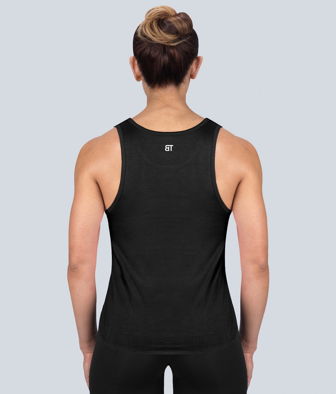 Born Tough United Kingdom Limitless Muscle Lightweight Soft Material Black Sheer Gym Workout Tank Top for Women