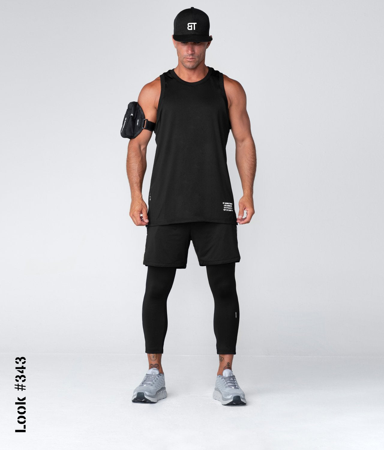Born Tough United Kingdom Air Pro™ Black Fitted Moisture-Wicking Gym Workout Tank Top for Men