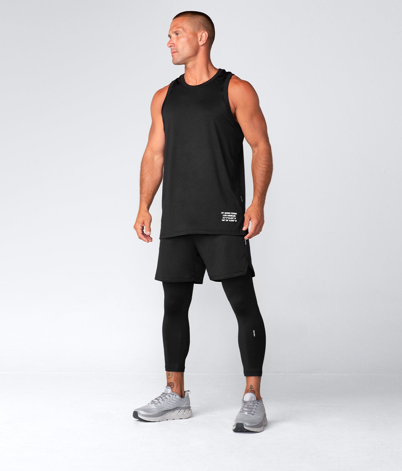 Born Tough United Kingdom Air Pro™ Honeycomb Mesh Black Fitted Tank Gym Workout Tank Top for Men
