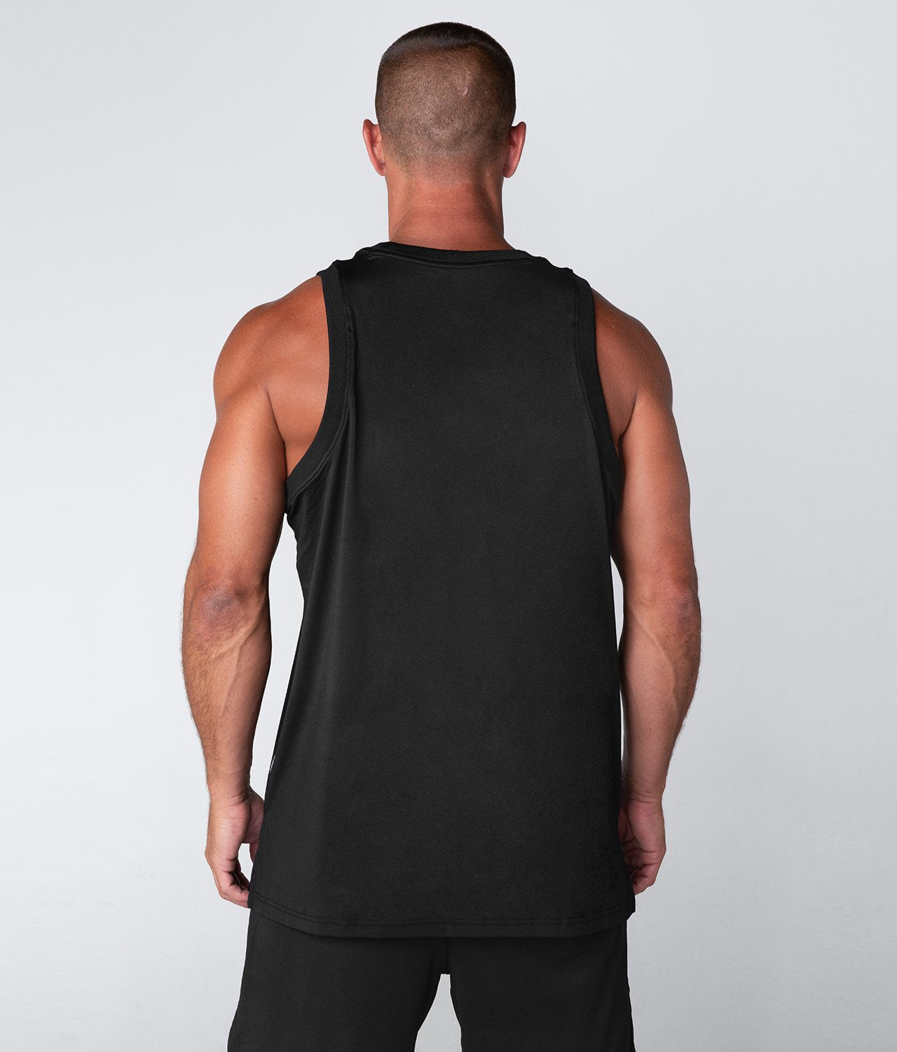 Born Tough United Kingdom Air Pro™ Black Fitted Highly Breathable Gym Workout Tank Top for Men