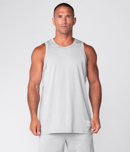 Born Tough United Kingdom Air Pro™ Honeycomb Mesh Steel Gray Gym Workout Tank Top for Men