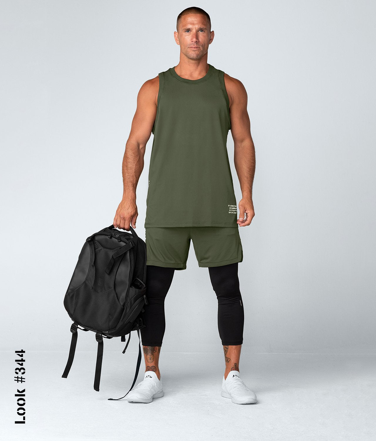 Born Tough United Kingdom Air Pro™ Men's 4-way stretchable Gym Workout Shorts With Legging Liner Military Green
