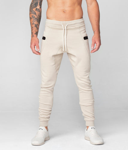 Born Tough United Kingdom Core Fit Zippered High-Quality Stone Gym Workout Jogger Pants for Men