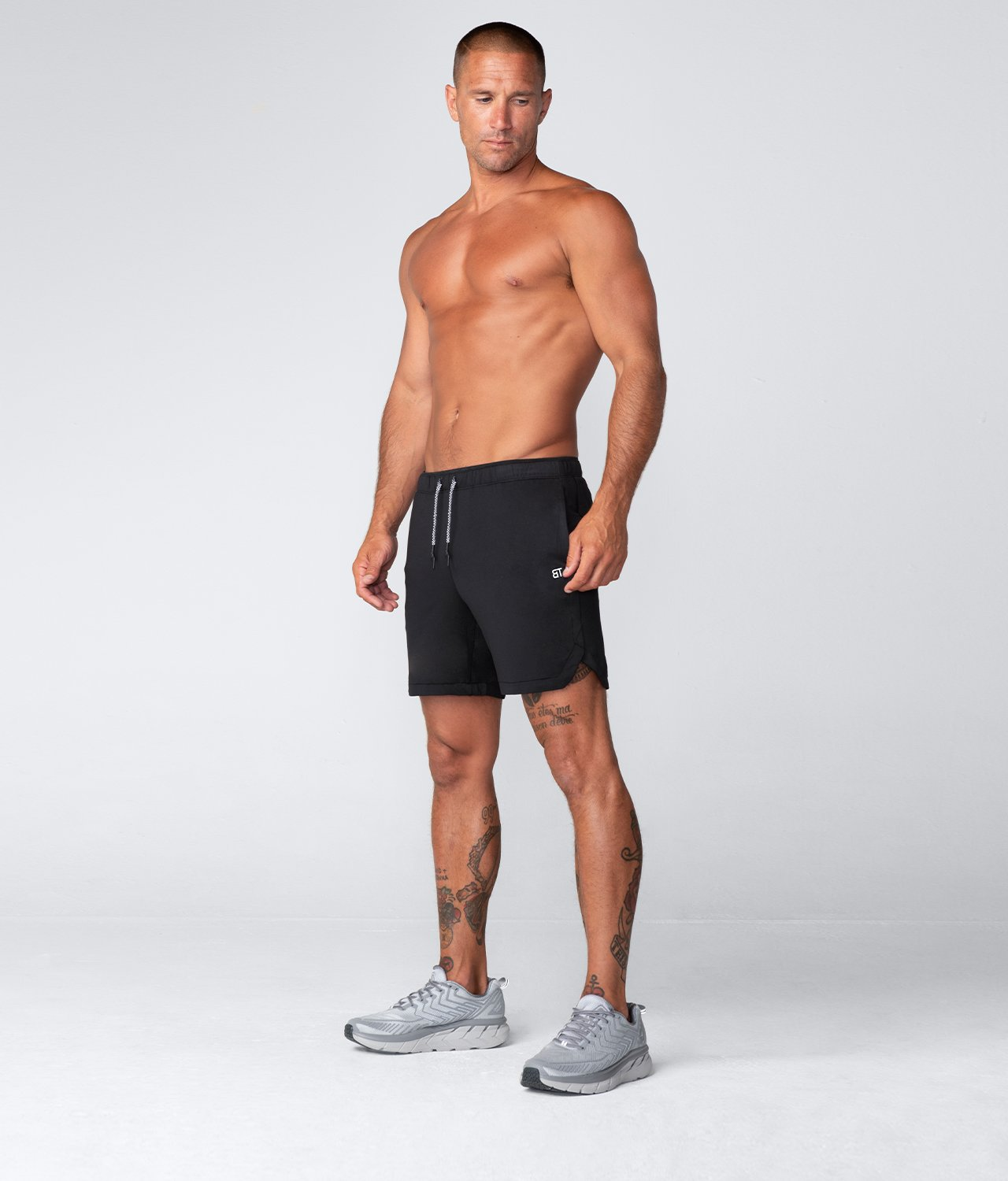 "Born Tough United Kingdom Air Pro™ 7"" Comfortable Ink Black Men's Gym Workout Shorts with Liner"