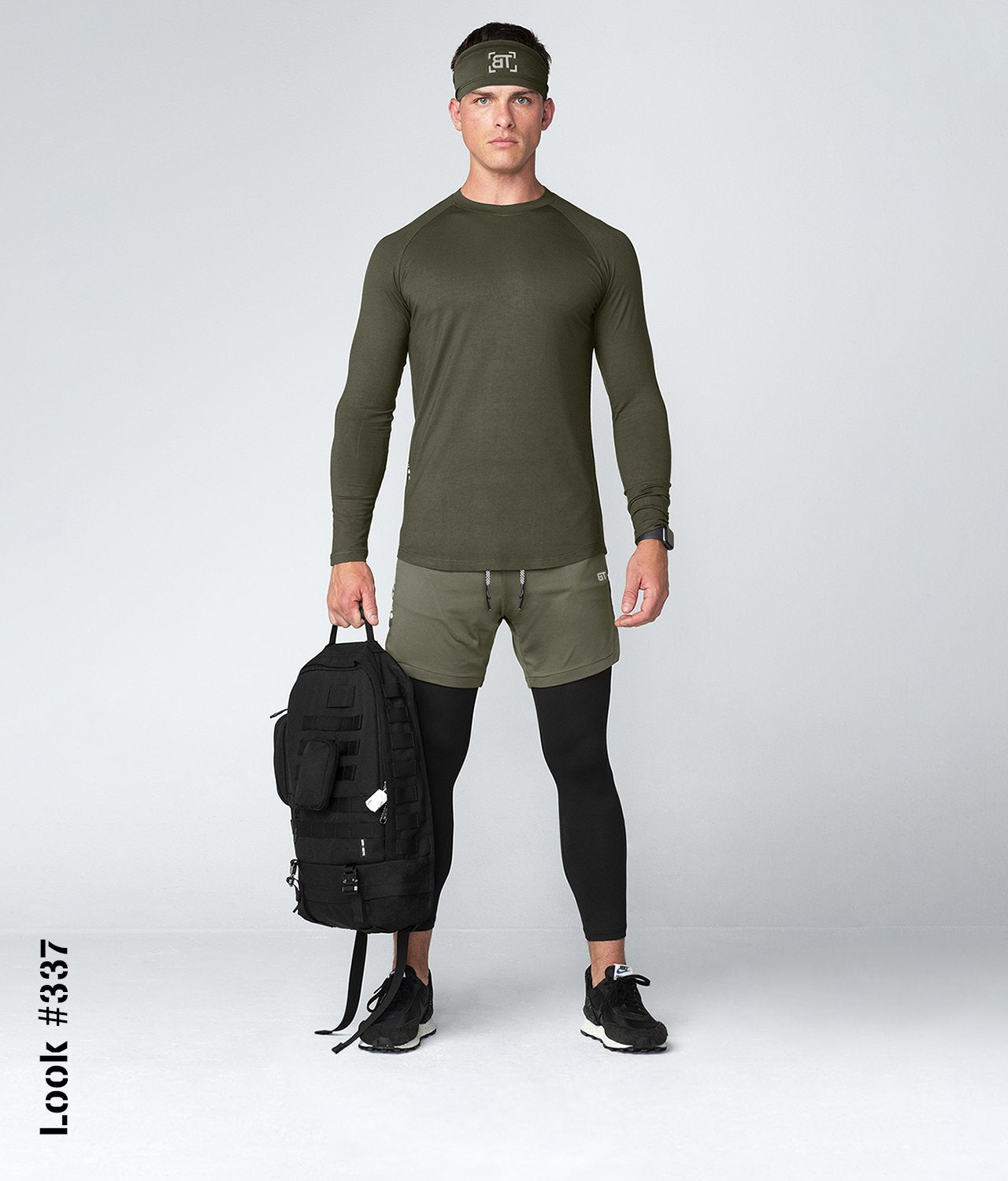 Born Tough United Kingdom Core Fit Softest Viscose Army Green Long Sleeve Gym Workout Shirt For Men