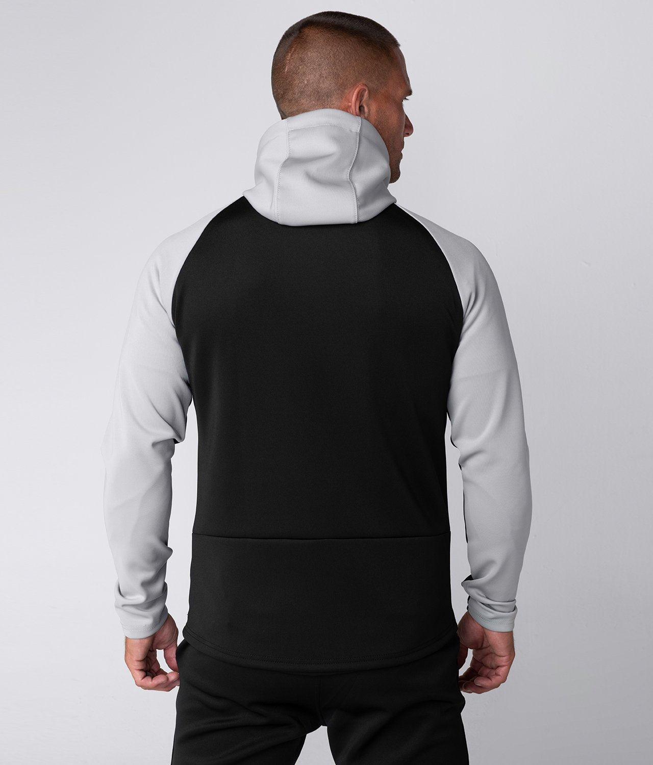 Born Tough United Kingdom Momentum Side-Pocket Drawstrings Gray/Black Gym Workout Hoodie for Men