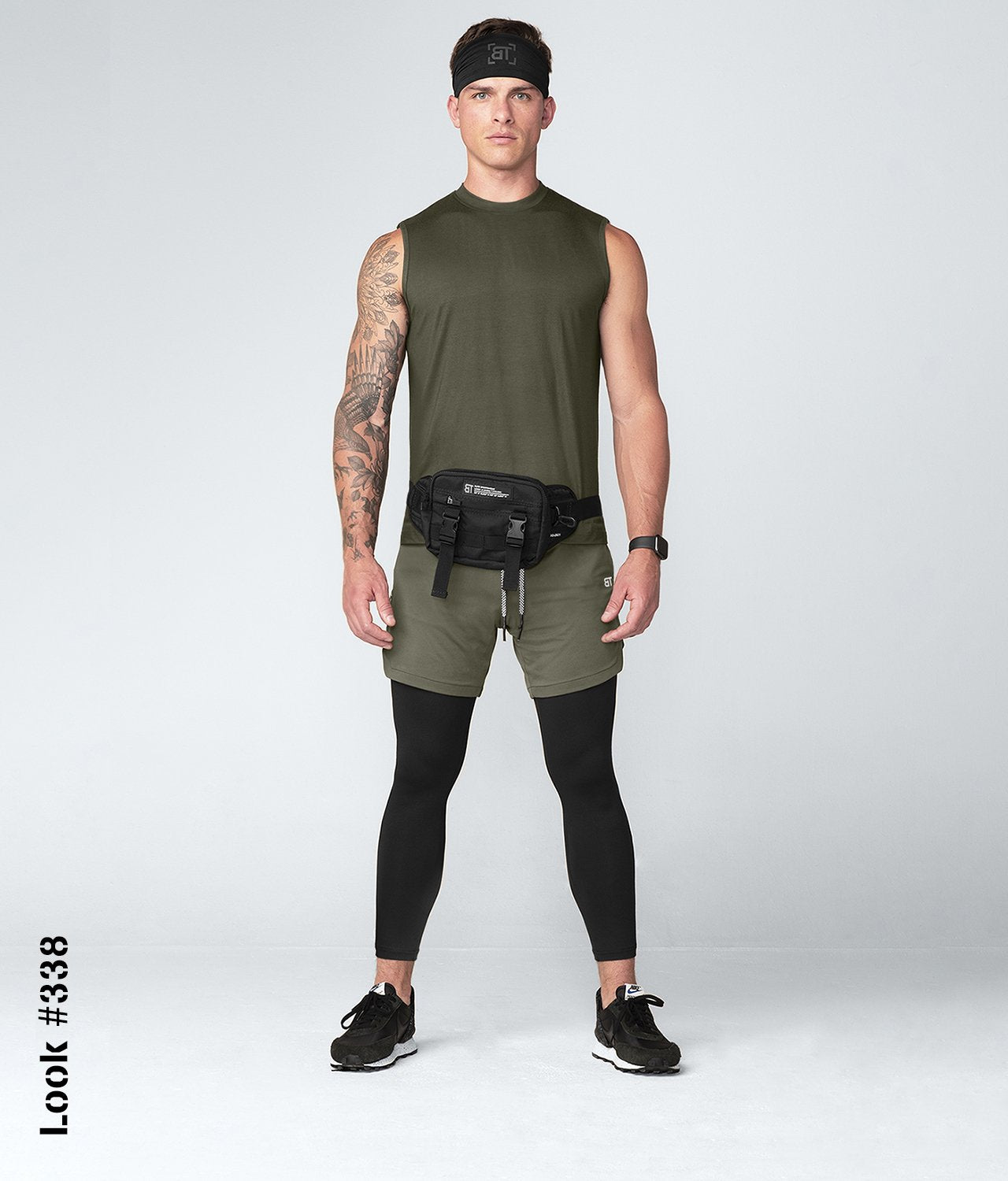 Born Tough United Kingdom Army Green Mock Neck Sleeveless Gym Workout Shirt For Men