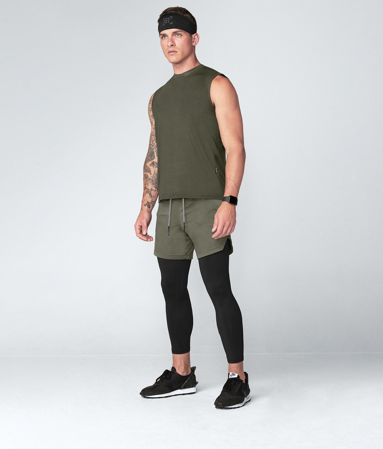 Born Tough United Kingdom Army Green Ultrasoft Sleeveless Gym Workout Shirt For Men