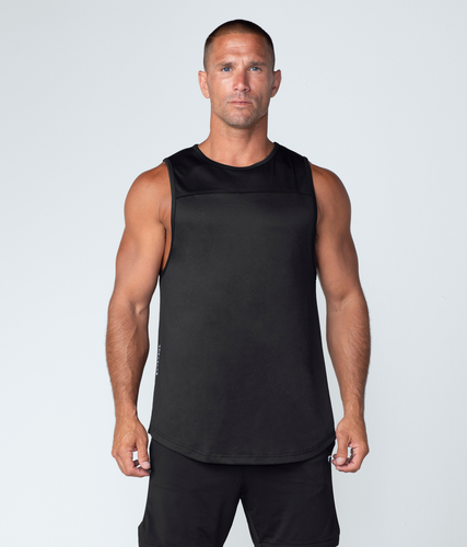 Born Tough United Kingdom Momentum Highly Breathable Fitted Gym Workout Tank Top For Men Black