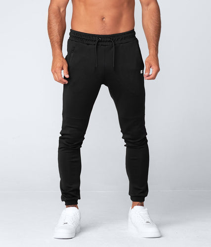 Born Tough United Kingdom Momentum Signature Two-Toned Design Gym Workout Jogger Pants For Men Black
