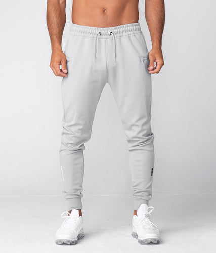 Born Tough United Kingdom Momentum Two-Toned Design Gray Gym Workout Jogger Pants for Men