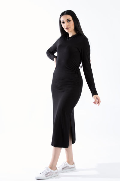 Mock Neck Long Sleeve MIDI Fitted