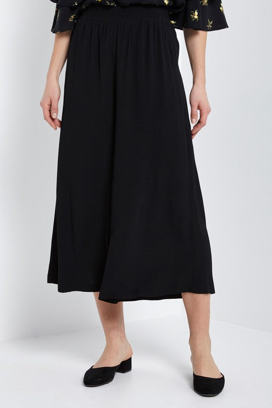 Culottes Pant with Elastic Waist