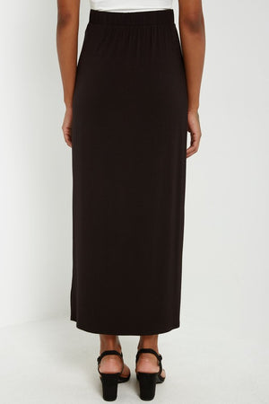 Midi Skirt with Twisted Front