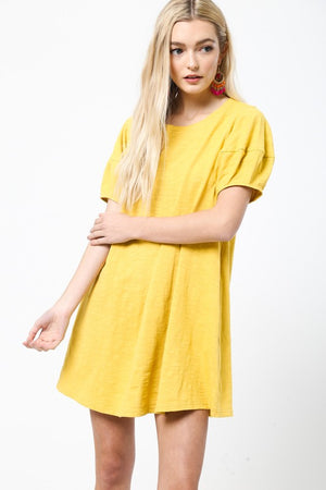 Yellow Short Dress