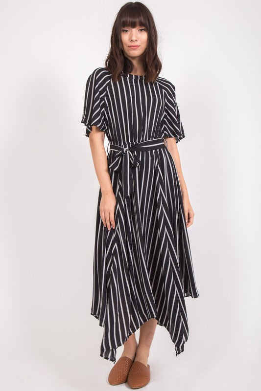 BWhite Striped Maxi