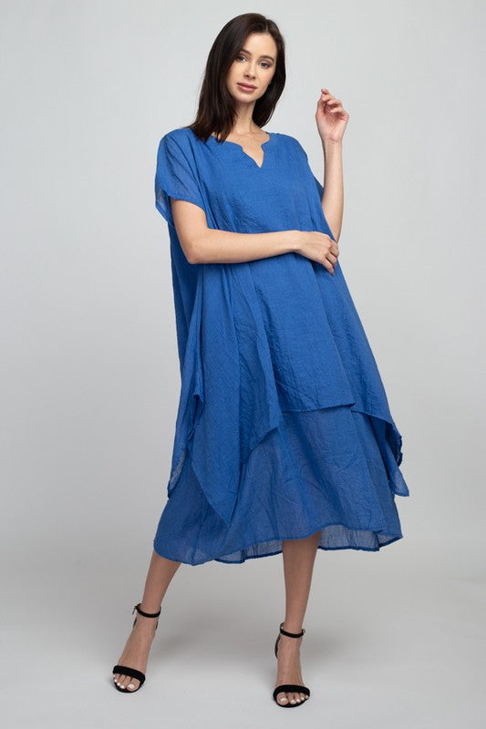 Blue Loose Fit Dress