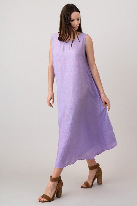 Purple Sleeveless Maxi Dress