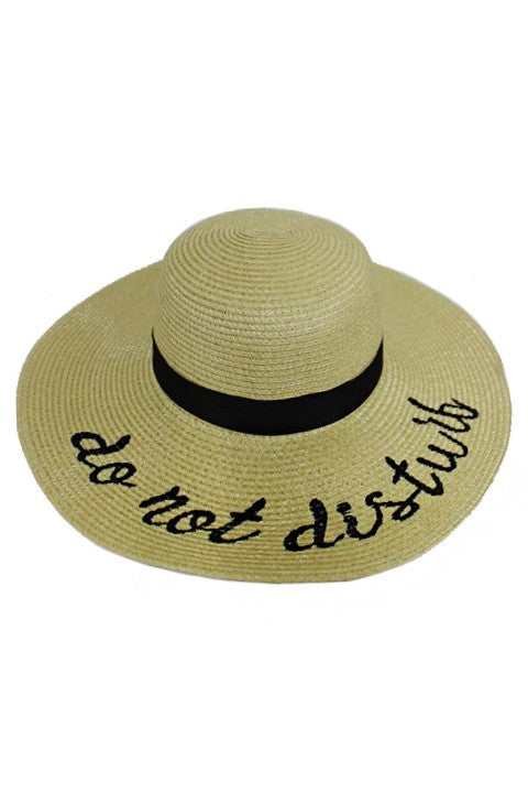 Do Not Disturb Embroidered Sun Hat