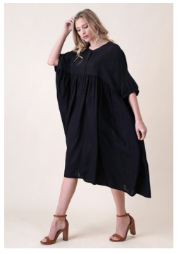 Wide Dolman Sleeved Dress