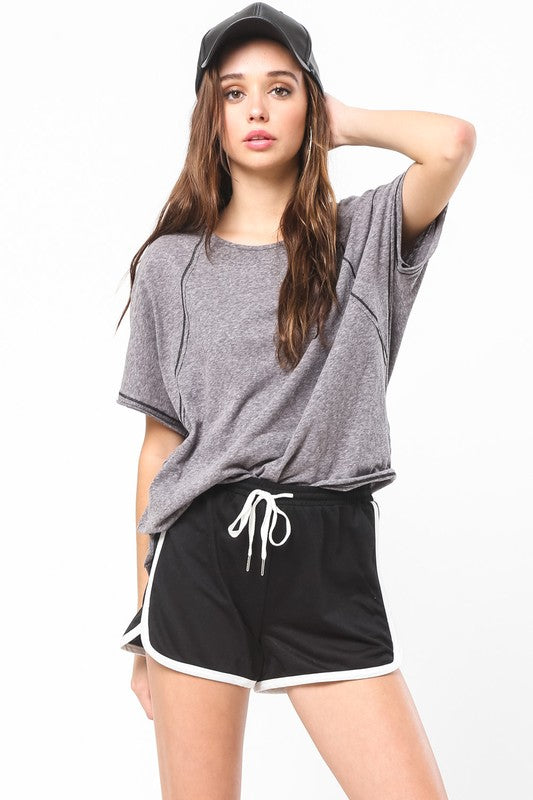 Charcoal Casual Top