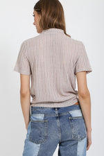 Taupe Neck Top