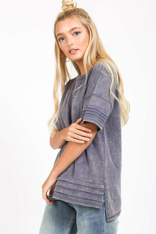 Denim Casual Top